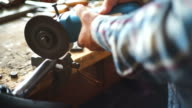 Working With Angle Grinder video