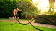 Workout gym Male Lawn Slow-Motion video