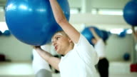 Workout with gymnastic ball video