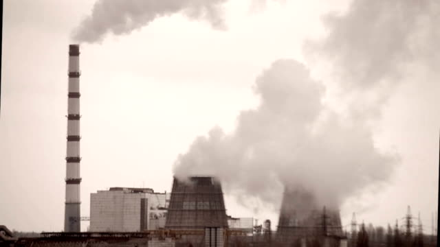 Works with large pipes and smoke on a cloudy day video