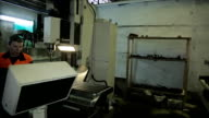 Workspace workshop for CNC machine and workers video
