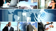 C.G World Business Montage Images, USA video
