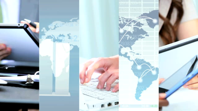World Business Montage Images video