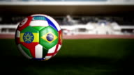 World Cup Soccer Ball in the Stadium video