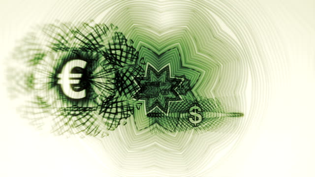 World Currency Symbols Background Loop HD, SD video