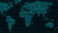 world  digital binary computer data code cyberspace graphic animation video