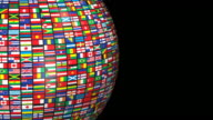 (Loop + Alpha) World Flags video