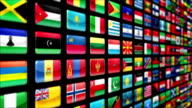 World flags, with Luma matte. Loopable. video