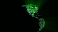 World globe of electronic circuits. Last 19 seconds are loopable. video