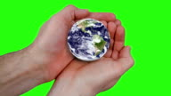 World in your Hands - green screen. HD video