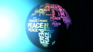 World made of Peace Words video