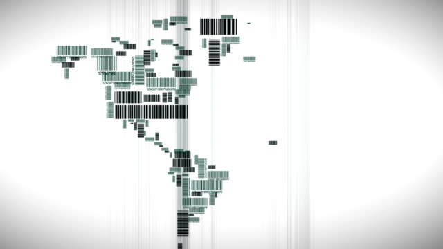 World made out of bar codes video