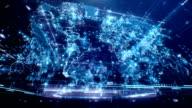 World Map. Dark Blue video