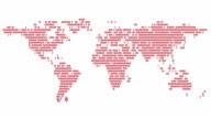World map made of women communicating. video