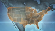 World map with US Airports, Roads and Railroads. Gray. Loopable. video