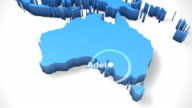 3D World Map Zoom Australia 2 video