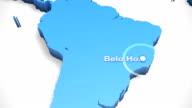 3D World Map Zoom Brazil 2 video