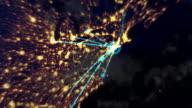 Monde réseau est distribué de New York. Bouclables. - Vidéo
