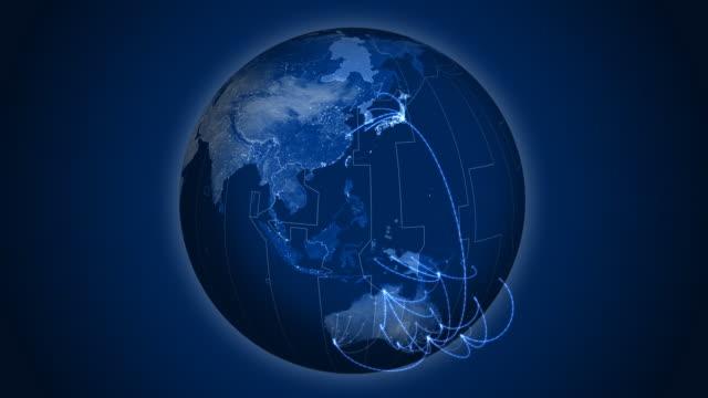 World network loop. video