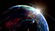 Monde réseau loop - Vidéo
