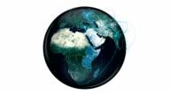 World network loop with luma matte video