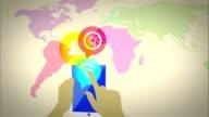 world tablet Social Network media marketing video