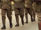 World War one Soldiers Marching - PAL video