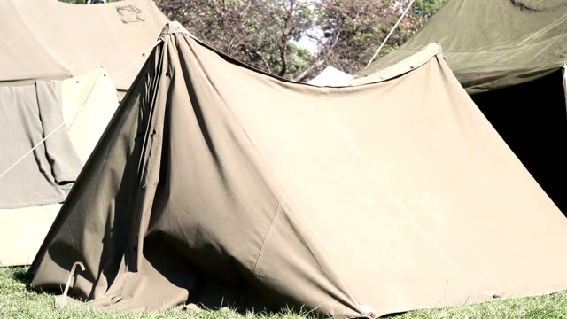 World War Two - American Tent in United states army base V1 video