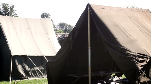World War Two - American Tent in United states army base V2 video