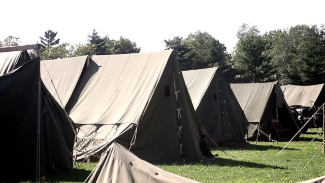 World War Two - American Tent in United states army base V3 video