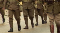 World War two Army Soldiers Marching in Parade video