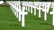 World-war II American cemetery at Omaha Beach, Colleville-Sur-Mer, France. video