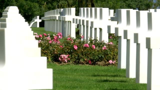 World-war II American cemetery, Colleville-Sur-Mer, France. video