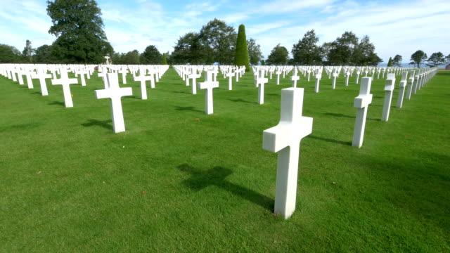 World-war II American cemeteryWorld-war II American cemetery, Colleville-Sur-Mer, France. video