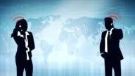 Worldwide Communication - Loopable video