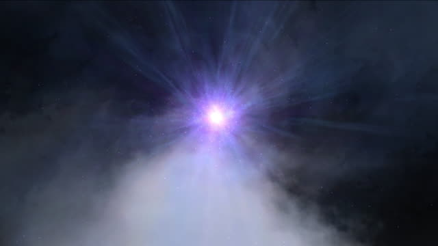 wormhole or black hole, abstract scene of fly in space video