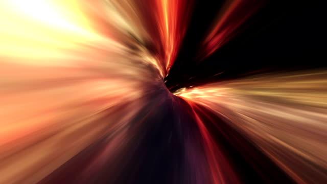 Wormhole space travel orange video