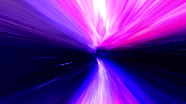 Wormhole space travel purple video