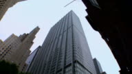 Worm's eye view of New-York buildings video