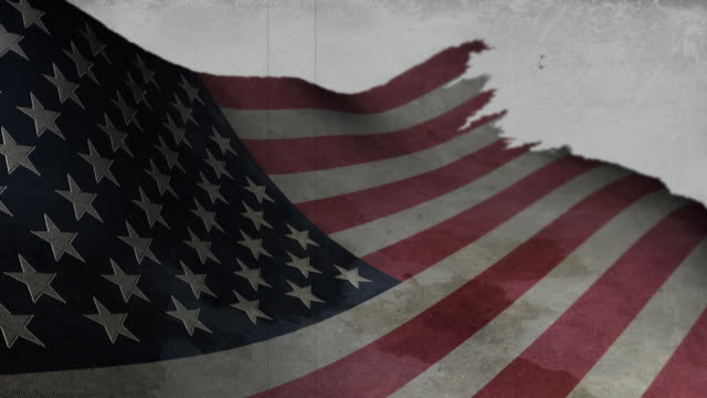 Worn American Flag video