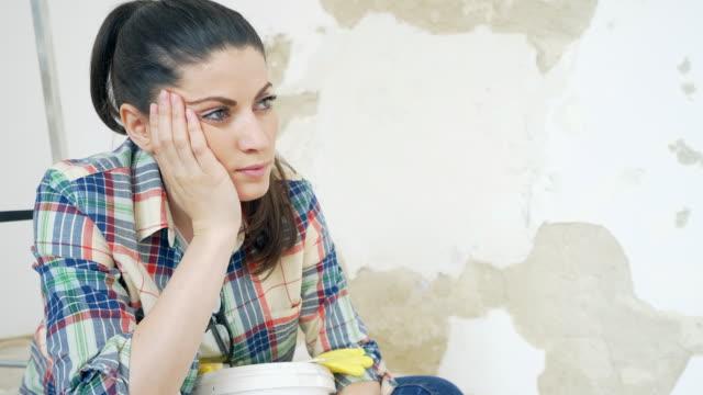 Worried woman. video
