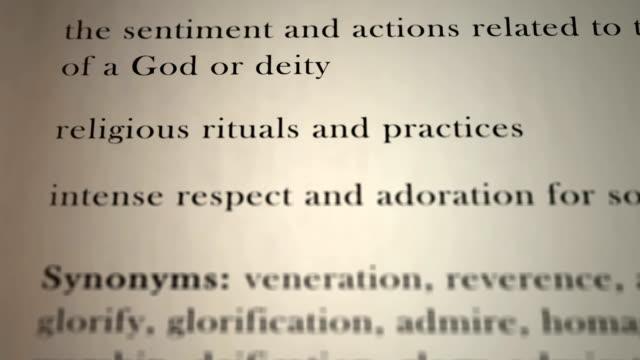 Worship Definition video