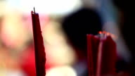 Worshiping gods by burning incense video