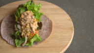 wrap salad roll with tuna corn salad video