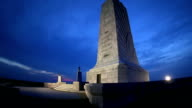 Wright Brothers National Monument at Dusk Tilt Up video