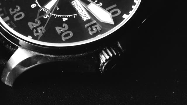 wristwatch close-up video