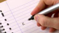 write down E=mc2  720p video