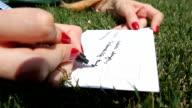writing a postcard video