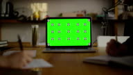 Writing code on paper. view1. Screen For Mock Up video