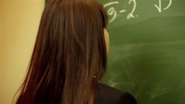 writing on blackboard video